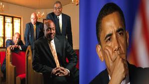 """Obama and Anthony Evans"""