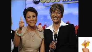 """Good Morning America Talk Show Host Robin Robers and Sister Sally Ann"""
