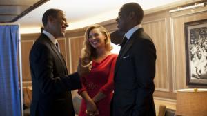 """""""President Barack Obama, Beyonce and Jay-z"""""""