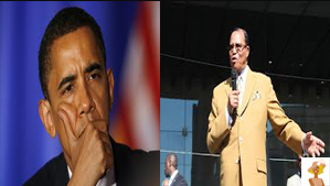 """Presidente Obama and Louis Farrakhan"""