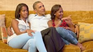President Obama, Sasha-Malia