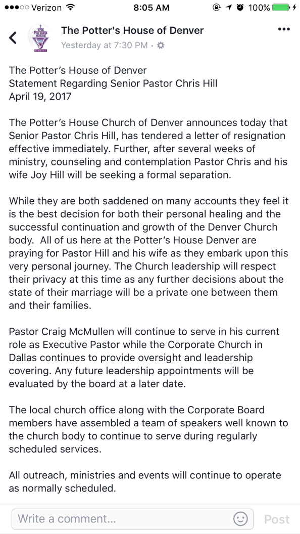 Chris Hill-Potters House scandal