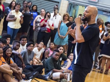 Common Surprises Harlem School With A Visit And A Check
