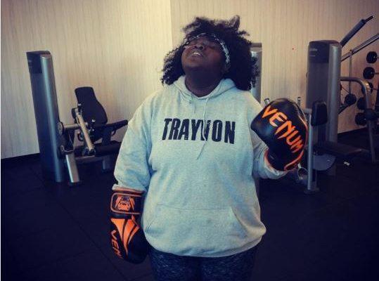 Gabby Sidibe Takes Politics To The Gym With 'Trayvon' Hoodie