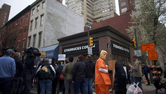 Activists Protest Racial Profiling, Arrests Of Black People In Starbucks