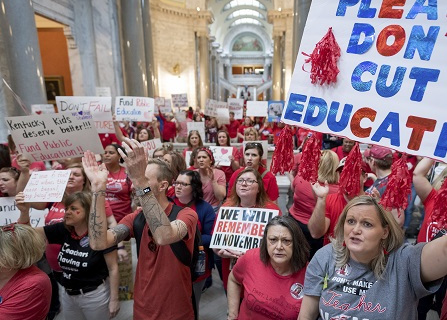 Kentucky Debates Vetoes As Teachers Demand Funding