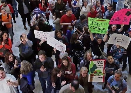 Oklahoma Teacher Walkout Stretches Into 5th Day