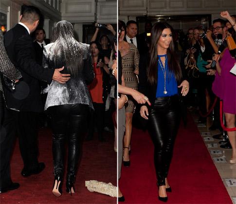 """""""Kim Kardashian gets a flour bomb by PETA Member"""""""