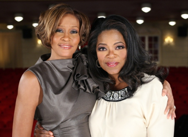 Oprah Winfrey photographed with Whitney Houston 2009