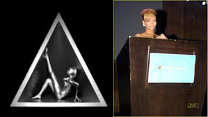 """Rihanna illumanati vs christian image"""