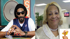 """Snoop Dogg now Snoop Lion and Mom Beverly"""