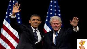 """Barack Obama and Bill Clinton"""