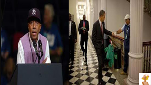 """Russell Simmons and Barack Obama"""