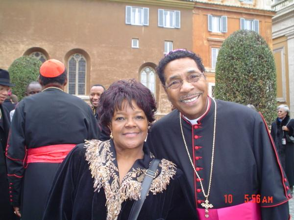 Shirley Caesar with kind, Husband Harold Ivory Williams