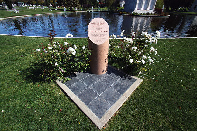 In 1999, McDaniel received a cenotaph at Hollywood Forever Cemetery. Her family decided to keep her remains at the original burial site in Angelus-Rosedale Cemetery.
