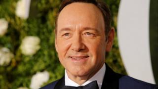 Kevin Spacey arrives at the Tony Awards in New York