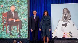 barack and michelle obama portraits