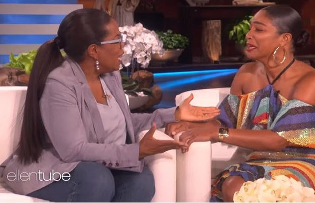 Tiffany Haddish Gets The Surprise Of Her Life With A Visit From Oprah