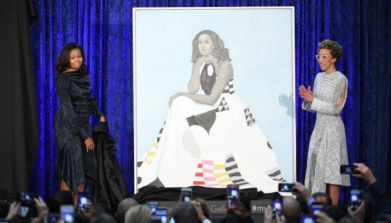 Smithsonian Moves Michelle Obama Portrait