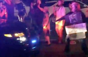 Dashboard Video Shows Sheriff's Car Hitting Clark Protester